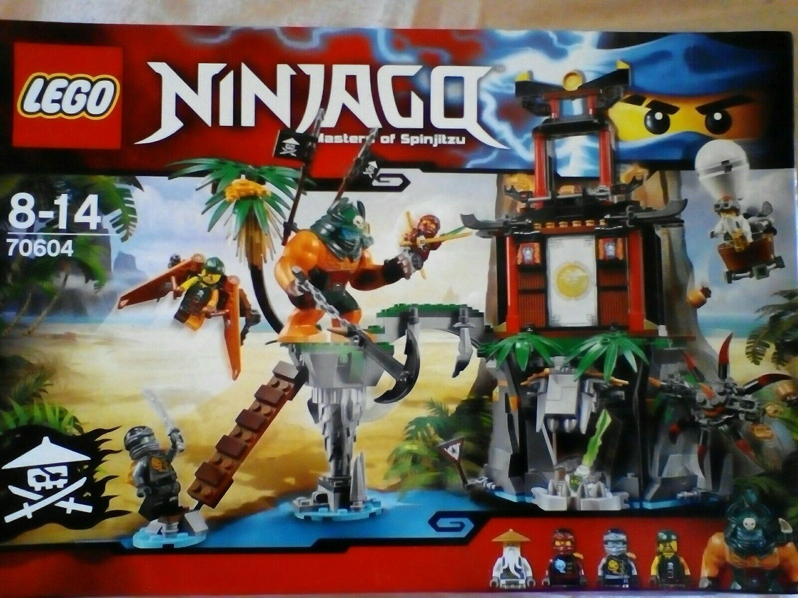 Lego 70604 Ninjago Tiger Veuve Island Playset-Neuf