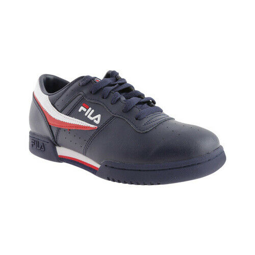 8048bad83d12 Fila Men s Original Fitness Fashion Navy SNEAKERS Shoes Leather Blue 8 for  sale online