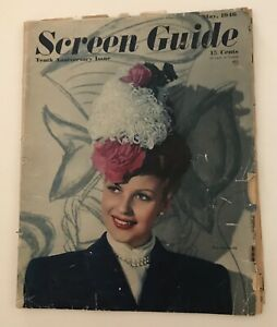 Screen Guide Magazine Vintage May 1946 Tenth Anniversary Issue book