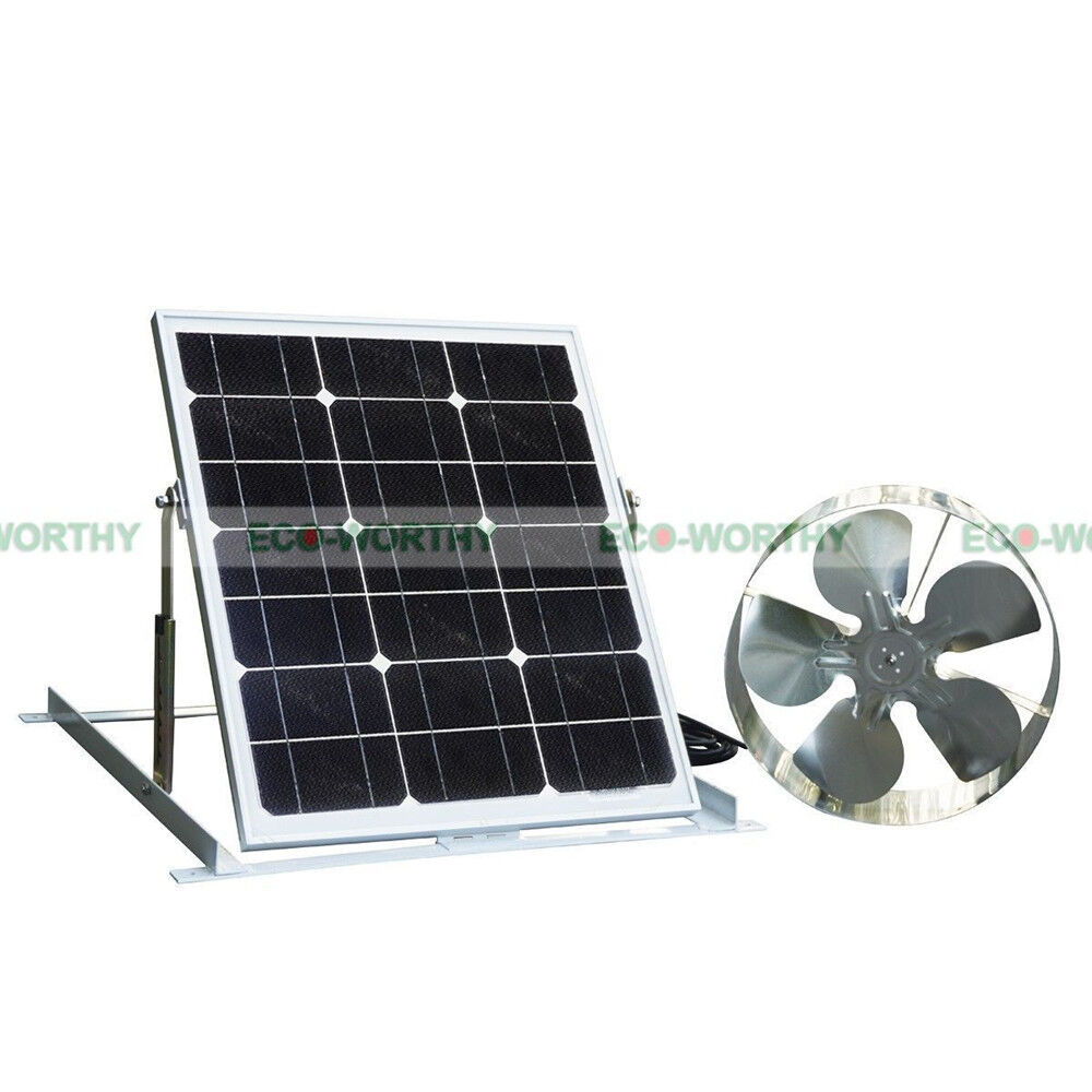 Eco Solar Powered Attic Vent Roof Ventilator Ventilation Fan W 29w Solar Panel Ebay