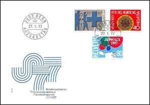 FDC-Suisse-Timbres-poste-speciaux-27-1-1977