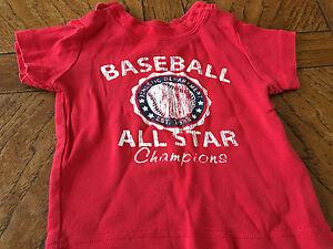 f6902884d39 Boy s 100% Cotton Short Sleeve baseball Graphic T Shirt Size 6-9M