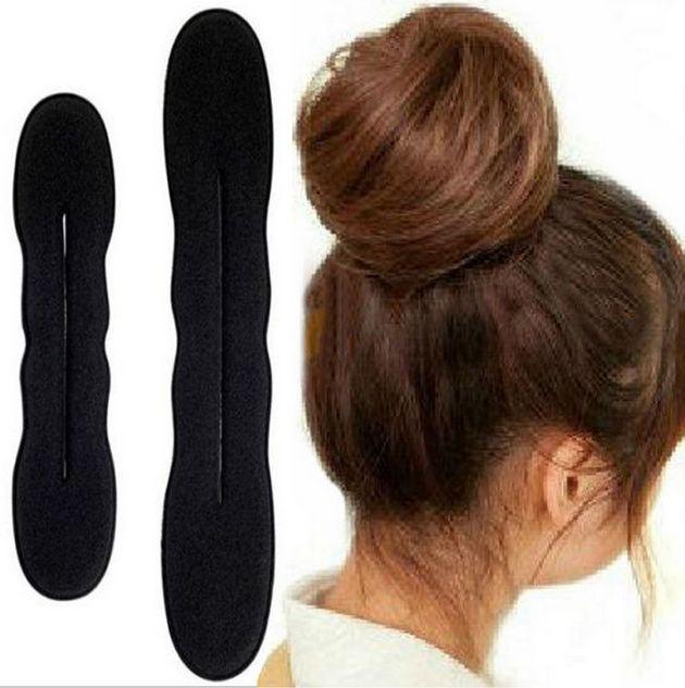 2pcs Magic Sponge Clip Foam Bun Curler Twist Hair Styling Maker