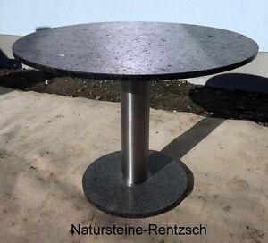 Runder Stabiler Gartentisch Terrassentisch Naturstein