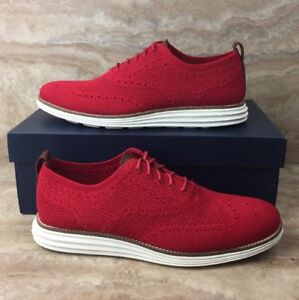02fb0c55ef Cole Haan Original Grand Knit Wingtip II Oxford Shoes Stitchlite Red ...