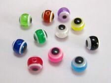 200pcs 8X4mm 100pcs 11X5mm Mixed Color Acrylic Kabbalah Evil Eye Ball Coin Beads