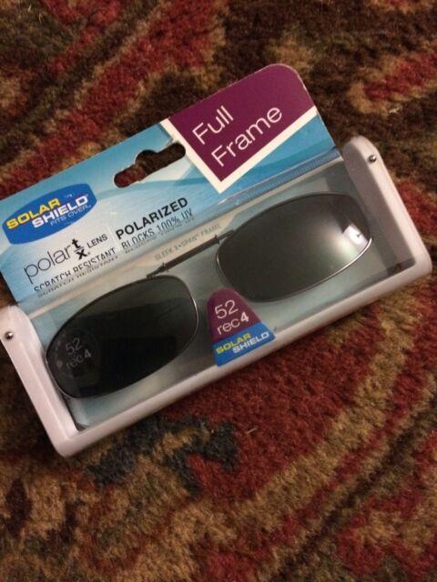 82cee06569 Solar Shield Lens Polarized Clip on 54 Rec 1 Sunglasses 100 Uva uvb  Protection