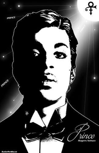 "PRINCE  # 3  11x17  /""Black Light/"" Poster"
