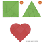 Dreieck mit Spiel-gut-Siegel o Herz Knobelpuzzle, Anker goki Puzzle Quadrat