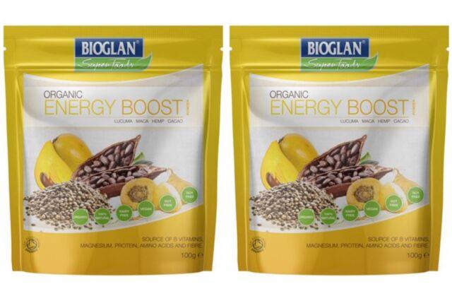 Bioglan Superfoods Energy Boost Powder 2 packs of 100g each