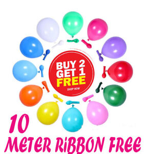5-034-inch-Balloons-Small-Round-10Be-Non-Qualatex-Latex-Party-Birthday-Decor-fs