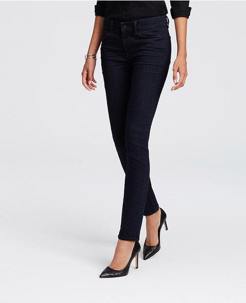 Ann Taylor - 0 (XS) - NWT  - Damsel Dark bluee Wash Denim Modern Skinny Jeans