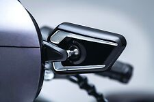 "Bahn Black Cut Fairing Mounted 5 X "" Mirrors Harley Batwing Touring 2014-2017"