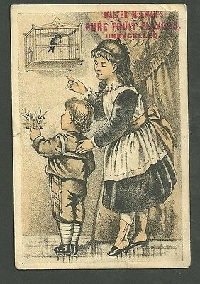 Collectibles 1880's Trade Card Walter Mcewans Pure Fruit Flavors Unexcelled Mild And Mellow