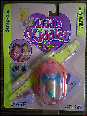"""Brand New Vintage Little Kiddles Doll """"Strap-Ons"""" Caucasian Pink Hair 19616"""