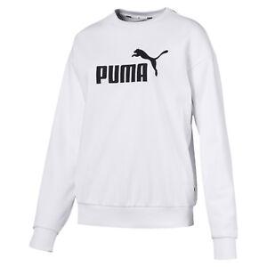 White 851794 Pullover Puma Nuovo Ladies Pullover felpa Essentials 02 Crew AqIIRX6