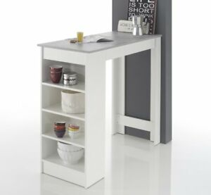 bartisch bartresen stehtisch tisch tresentisch bistrotisch k che weiss beton neu ebay. Black Bedroom Furniture Sets. Home Design Ideas
