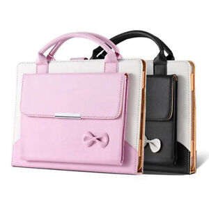 Image Is Loading Cute Bowknot Handbag Leather Magnetic Case Cover For