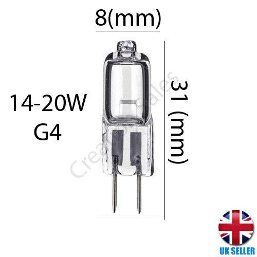 G4 G9 Capsule Light Bulb Halogen 10W 20W 14W 25W 40W 12v 240v Eveready Energizer