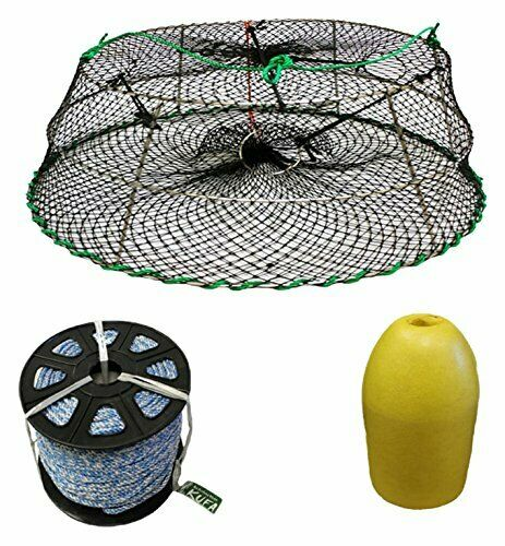 KUFA Sports Tower Style Prawn trap with 400' rope, float & Bait Jar(CT77+PAS1)