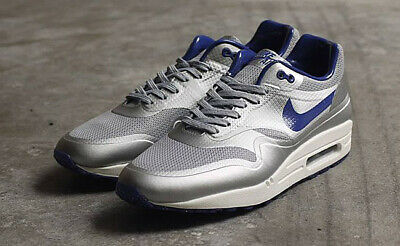 Nike Air Max 1 HYP QS Night Track Metallic Silver Royal Blue UK 9.5   eBay