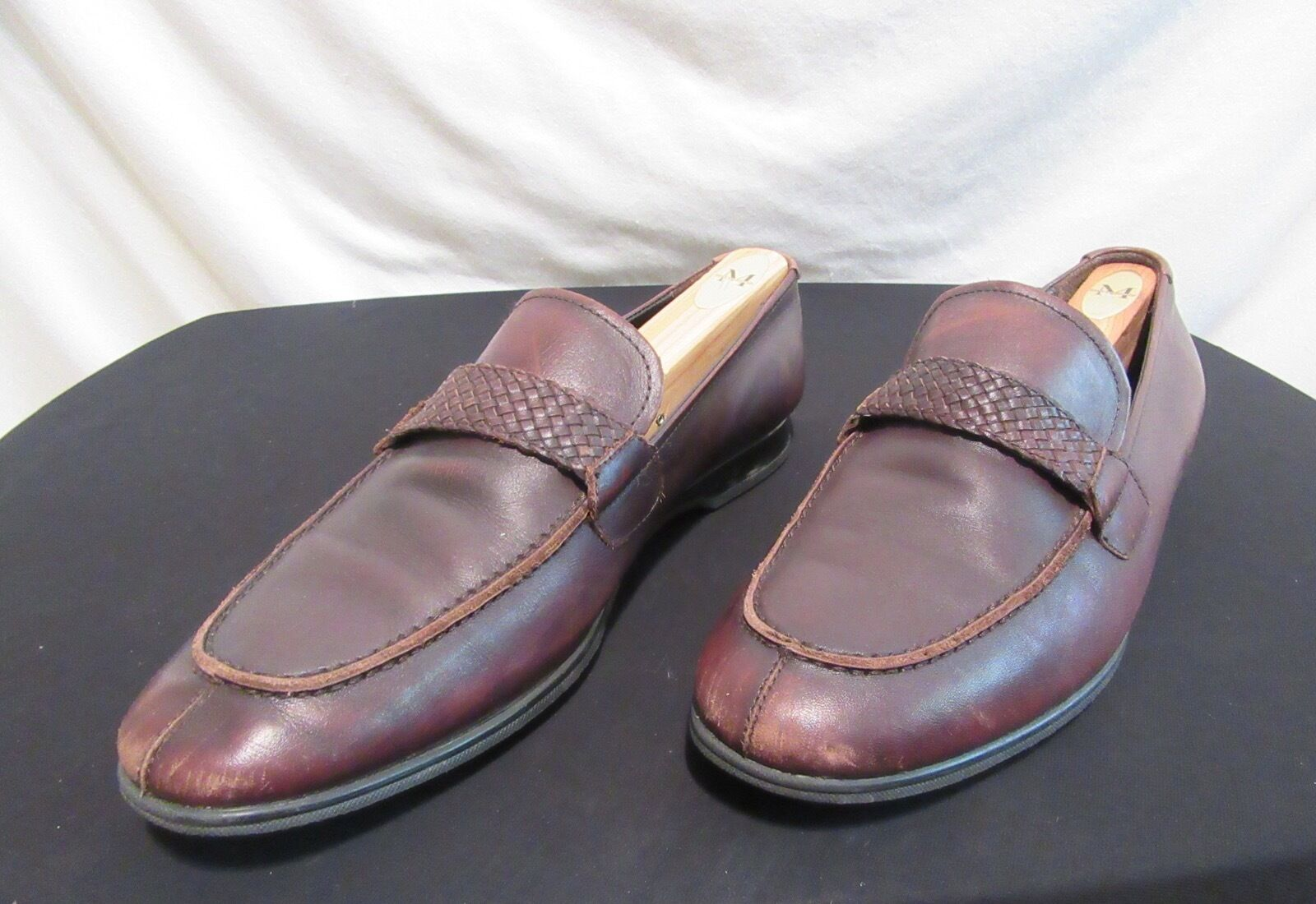 TOMMY BAHAMA Manhattan Island Men's Brown Leather 9M Loafer Style Dress Shoes 9M Leather 386c6b