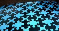 40x JIGSAW PUZZLE ROOF CAR STICKERS,FOCUS,GOLF,CIVIC,ST,CLIO,206,VW,DUB,T4,T5