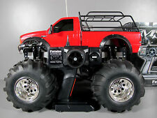 Custom R/C Tamiya 1/10 Juggernaut 2 Ford F350 w/ Upgrade ESC Futaba + upgrade