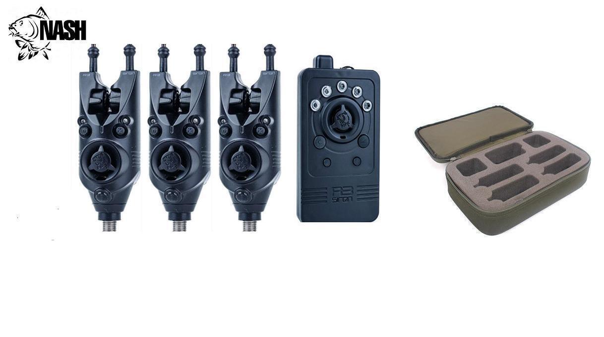 Nieuwe Nash Siren R3 Bijt 3 x Alarm Alarm Alarms Wireless Receiver Gratis Case instellen