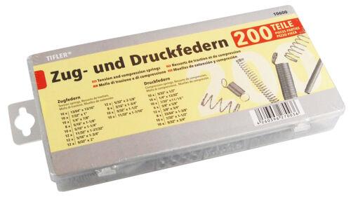 200 Stück im Federn Set von Tifler Zugfedern und Druckfedern Sortiment