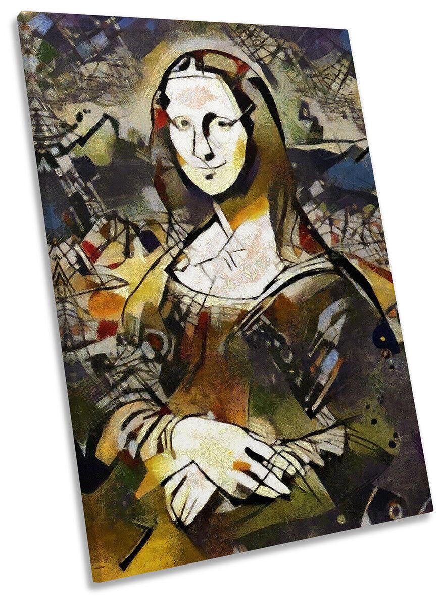 Mona Lisa opera d'arte moderna a muro stampa ritratto arte