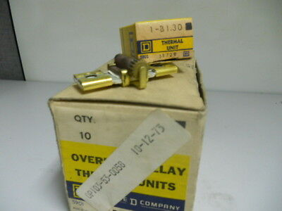 Prepaid Shipping New Square D B1.30 Overload Relay Thermal Unit