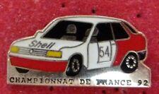 RARE PIN'S PEUGEOT 309 GTI SHELL RALLYE CHAMPIONNAT DE FRANCE 92