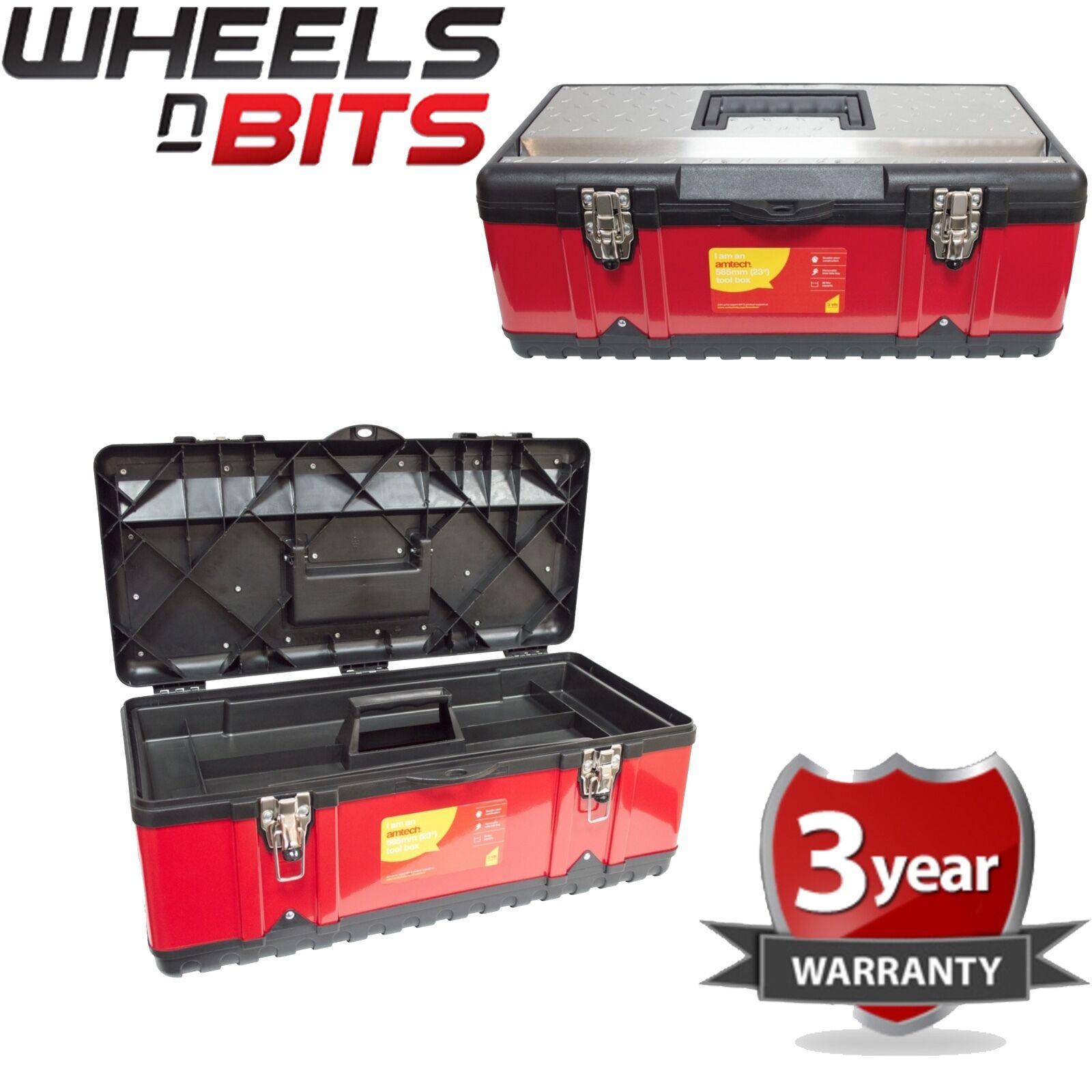 58.4cm Werkzeugbox Schwerlast-Metall Stahl und Kunststoff Kasten mit Tablett