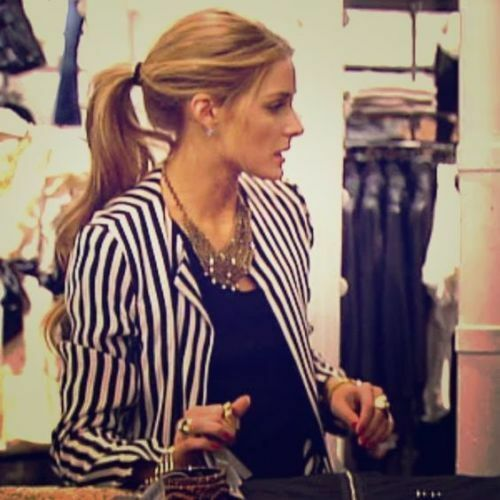 Rare Zara Striped Blazer Olivia Palermo Bloggers SIZE XS Extra Small
