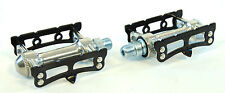 MKS SYLVAN Black and Silver Track Fixed Gear PEDALS 9/16, Bike