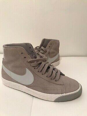 sin embargo Deambular preámbulo  Nike Blazer High Top Grey Suede UK Size 4 | eBay