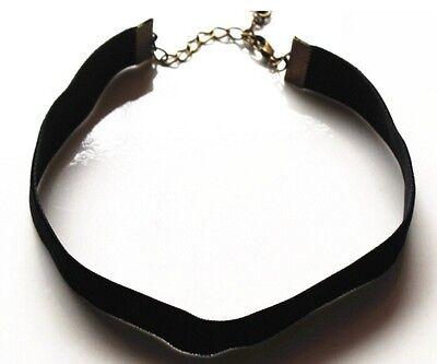 Handmade Velvet Black Choker Necklace Goth Gothic Handmade Retro Burlesque 90's