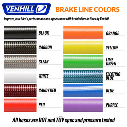 Rear Braided Stainless SS Brake Lines by Venhill Honda CBR900RR CBR919RR Front
