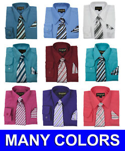 Toddler Melon Dress Shirt with Matching Tie /& Hankie Long Sleeves Sizes 2T,3T,4T