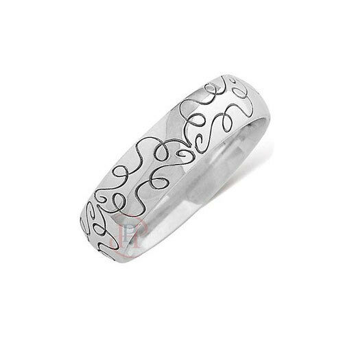 Wedding Ring with Lazer Abstract  Detail - Available in 9ct or 18ct gold