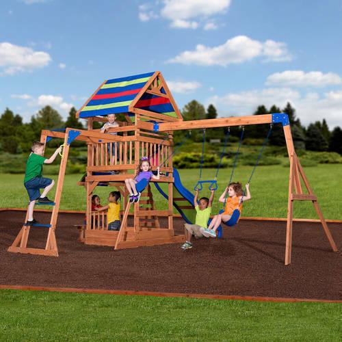 Backyard Discovery Beach Front Wooden Cedar Swing Set 01 For Sale Online Ebay