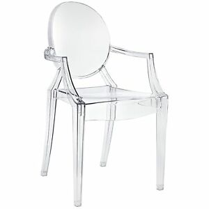 Image Is Loading Ghost Armchair Stack Clear Lucite Modern Acrylic Chair