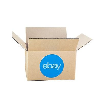 "eBay-Branded Boxes With Blue 2-Color Logo 8"" x 6"" x 4"""