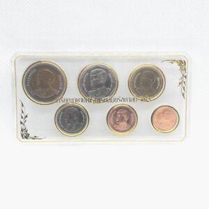 25 satang 10 baht 2008-2015 UNC Thailand set of 6 coins