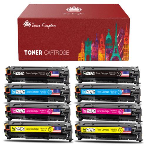 8-pk Toner Set For HP 305X LaserJet Pro 300 M375 400 Color M451 MFP M475 CE410X