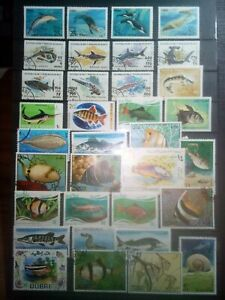 Poissons-timbres-timbres-SELLOS-STAMPS