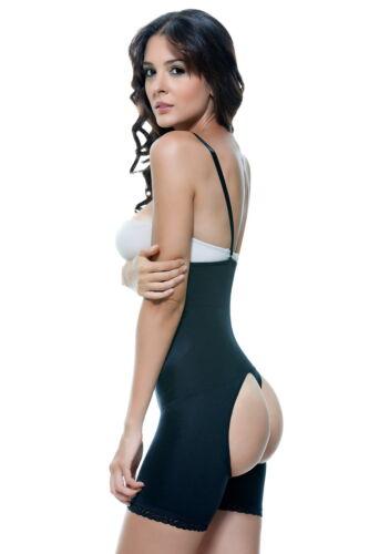 Vedette 504 Bodysuit Girdle Shaper Butt Enhancers Open Bottom Strapless Control