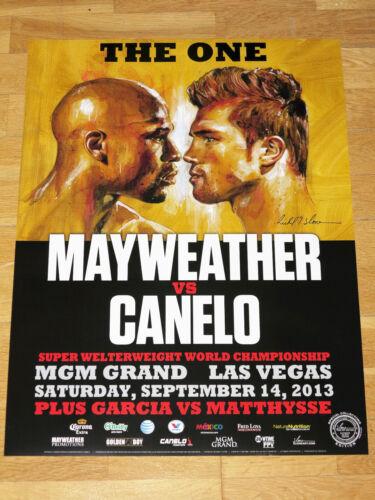 "Floyd Mayweather vs Canelo Alvarez Fight Poster 1 /"" the One /"" 2013 Las Vegas"