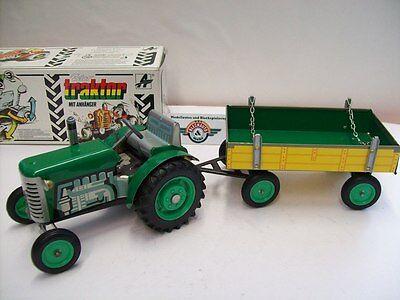 Green/yellow 1954 Ovp Geschickte Herstellung Kovap 1:25 Gastfreundlich Zetor 25 Traktor Mit Hänger